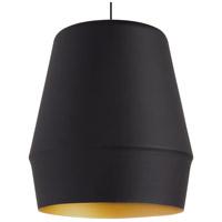 Tech Lighting 700TDALEBG Allea 1 Light 13 inch Black/Gold Pendant Ceiling Light