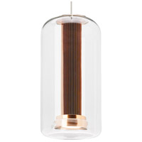 Amira LED 6 inch Satin Nickel Line-Voltage Pendant Ceiling Light