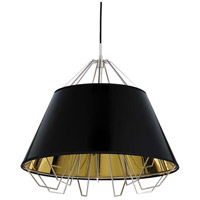 Tech Lighting 700TDATCPBGBSB Artic 22 inch Black Pendant Ceiling Light