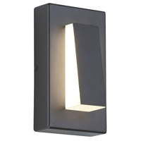 Tech Lighting 700OWASPW9308DHUNVS Aspen Wedge LED 8 inch Charcoal Outdoor Wall Light