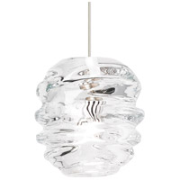Audra LED 5 inch Satin Nickel Line-Voltage Pendant Ceiling Light
