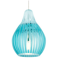 Tech Lighting 700FJAVYQS Avery 1 Light 4 inch Satin Nickel Low-Voltage Pendant Ceiling Light in Aqua FreeJack