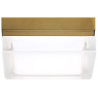 Tech Lighting 700BXSR-LED Boxie LED 5 inch Aged Brass Flush Mount Ceiling Light photo thumbnail