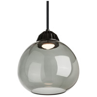 Bristol LED 10 inch Black Line-Voltage Pendant Ceiling Light in Transparent Smoke, 3000K