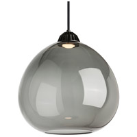 Bristol LED 17 inch Black Line-Voltage Pendant Ceiling Light in Transparent Smoke, Warm Color Dimming 3000K-2200K