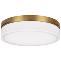 Tech Lighting 700CQLR-LED3 Cirque LED 11 inch Aged Brass Flush Mount Ceiling Light