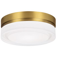 Tech Lighting 700CQSR-LED Cirque LED 6 inch Aged Brass Flush Mount Ceiling Light