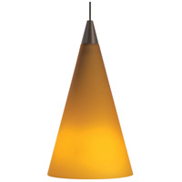 Cone LED 4 inch Satin Nickel Low-Voltage Pendant Ceiling Light in Amber, MonoRail