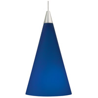 Cone 1 Light 4 inch Antique Bronze Pendant Ceiling Light in Cobalt, Monopoint, Halogen