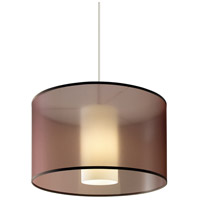 Tech Lighting 700TDDLNPWNZ Dillon 1 Light 20 inch Antique Bronze Pendant Ceiling Light in Translucent Brown Organza