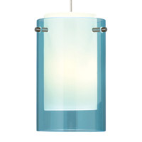 Echo 1 Light Satin Nickel Line-Voltage Pendant Ceiling Light