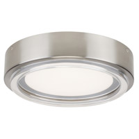Escher LED 12 inch Satin Nickel Flushmount Ceiling Light