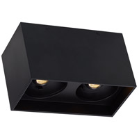 Exo LED 5 inch Matte Black Flushmount Ceiling Light, Dual