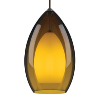 Fire 1 Light 8 inch Satin Nickel Line-Voltage Pendant Ceiling Light in Amber, Single-Circuit T-TRAK, Halogen