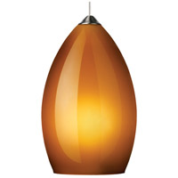 Firefrost 1 Light 5 inch Chrome Pendant Ceiling Light in Amber, Monopoint, Halogen