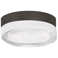 Tech Lighting Fluid Round 1 Light Ceiling in Satin Nickel 700FMFLDRSS-LED