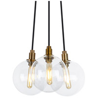 Gambit LED 9 inch Aged Brass Chandelier Ceiling Light