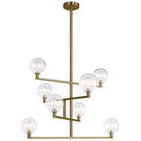 Gambit LED 32 inch Aged Brass Chandelier Ceiling Light