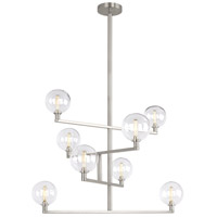 Gambit LED 32 inch Satin Nickel Chandelier Ceiling Light