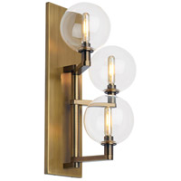 Gambit LED 8 inch Aged Brass Wall Sconce Wall Light, Triple