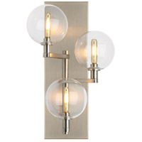Gambit LED 8 inch Satin Nickel Wall Sconce Wall Light, Triple