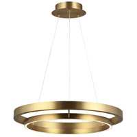 Grace LED 30 inch Aged Brass Chandelier Ceiling Light
