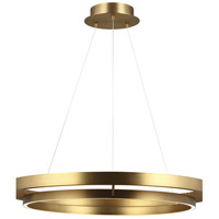 Grace LED 36 inch Aged Brass Chandelier Ceiling Light