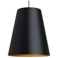 Gunnar 1 Light 24 inch Black and Satin Gold Pendant Ceiling Light