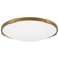 Lance LED 4 inch Aged Brass Flushmount Ceiling Light