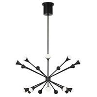 Tech Lighting 700LDY18B-LED930 Lody LED 31 inch Matte Black Chandelier Ceiling Light