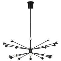 Tech Lighting 700LDY20B-LED930 Lody LED 48 inch Matte Black Chandelier Ceiling Light