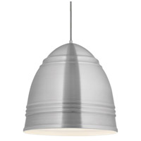 Loft Grande 3 Light 17 inch Brushed Aluminum with White Interior Pendant Ceiling Light, Grande