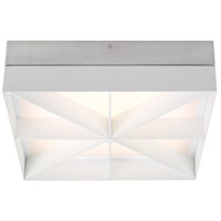 Tech Lighting 700FMLMOSW-LED930 Loom LED 14 inch Satin Nickel and White Flush Mount Ceiling Light