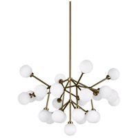 Mara LED 29 inch Aged Brass Chandelier Ceiling Light