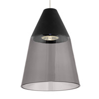 Tech Lighting 700MOMSQKBS-LED Masque LED 6 inch Satin Nickel Low-Voltage Pendant Ceiling Light in Smoke/Black MonoRail