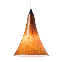 Melrose 1 Light 7 inch Satin Nickel Line-Voltage Pendant Ceiling Light in Tahoe Pine Amber, Single-Circuit T-TRAK, Incandescent