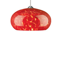 Meteor Frit 1 Light 5 inch Antique Bronze Low-Voltage Pendant Ceiling Light in Red Frit, 2-Circuit MonoRail