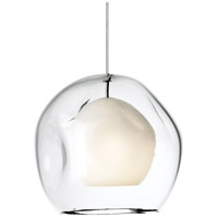 Mini Jasper 1 Light 9 inch Satin Nickel Pendant Ceiling Light