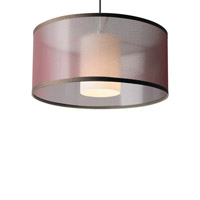 Tech Lighting 700MO2MDLNWNC-LEDS830 Dillon LED Chrome Low-Voltage Pendant Ceiling Light in Brown Organza, 2-Circuit MonoRail