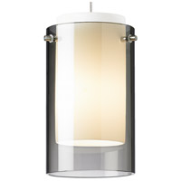 Echo LED Chrome Low-Voltage Pendant Ceiling Light in Smoke, 2-Circuit MonoRail