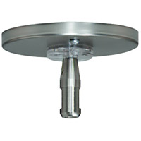 Tech Lighting MonoRail Rail Single-Feed Canopy in Satin Nickel 700MOP4C02S