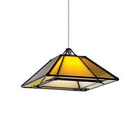 Oak Park 1 Light 7 inch Chrome Low-Voltage Pendant Ceiling Light in Amber, MonoRail