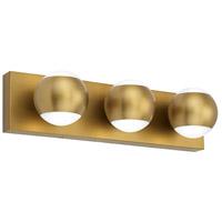 Tech Lighting 700BCOKO3R-LED930 Oko LED 18 inch Aged Brass Bath Light Wall Light