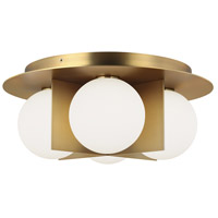 Tech Lighting 700FMOBLR Orbel LED 15 inch Aged Brass Flush Mount Ceiling Light