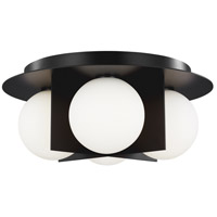 Tech Lighting 700FMOBLB Orbel LED 15 inch Matte Black Flush Mount Ceiling Light