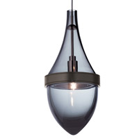 Parfum 1 Light 4 inch Satin Nickel Low-Voltage Pendant Ceiling Light in Transparent Smoke, 2-Circuit MonoRail, Halogen