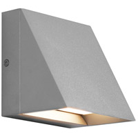 Tech Lighting 700WSPITSI-LED827 Pitch Single LED 5 inch Silver Outdoor Wall Light