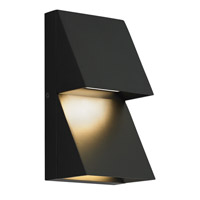 Pitch LED 10 inch Black Outdoor Wall Sconce