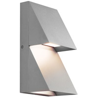 Silver Pitch Outdoor Wall Lights
