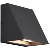 Pitch LED 5 inch Black Outdoor Wall Sconce